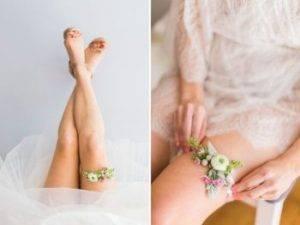 Свадебные подвязки фото