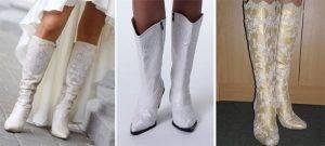 Свадебные сапожки без каблука
