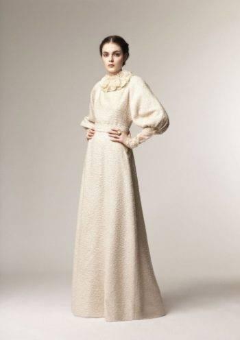 Свадебное платье с мехом