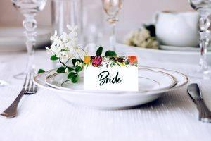 Европейская рассадка гостей на свадьбе