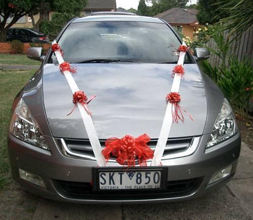 украшение машин на свадьбу своими руками фото 17