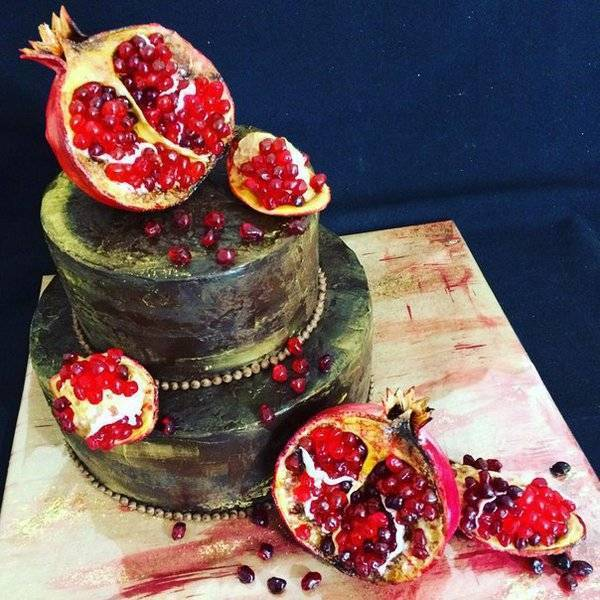Торт на гранатовую свадьбу фото