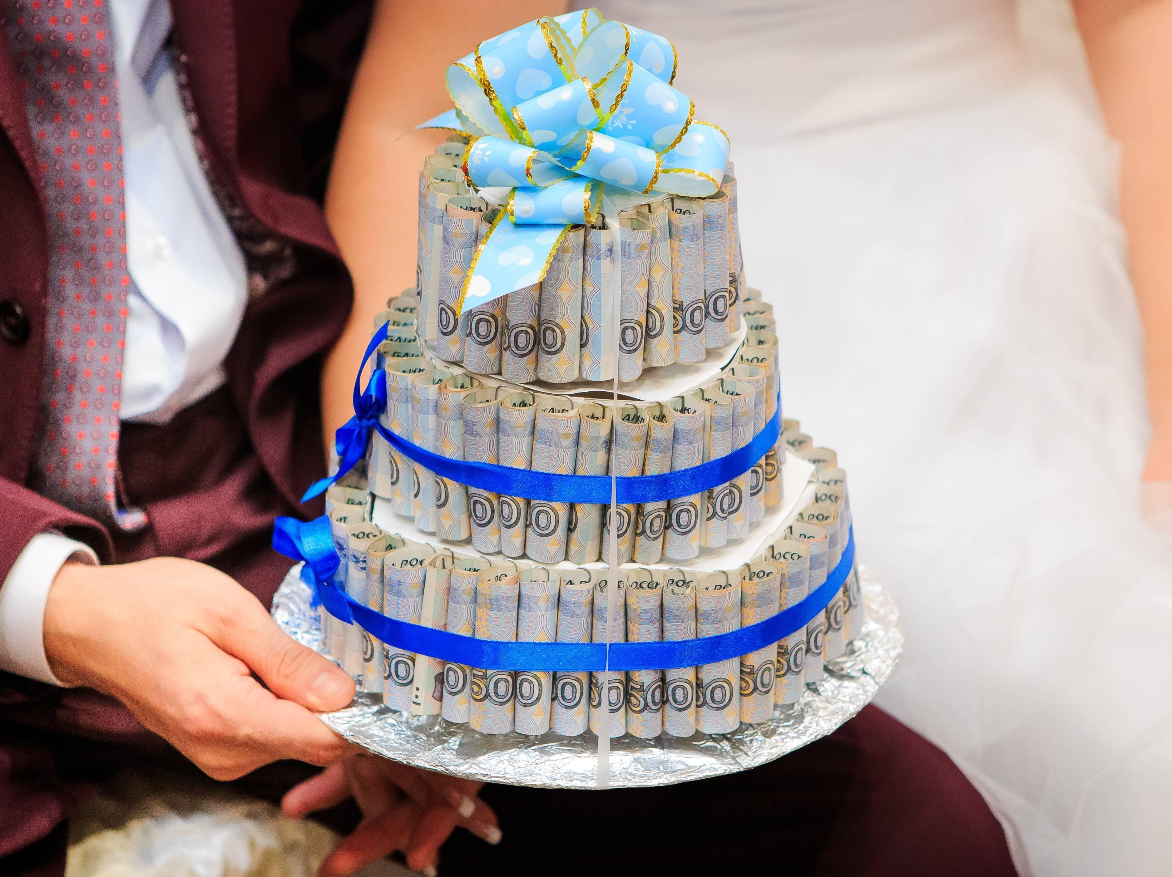 Торт из денег и конфет