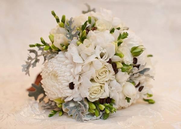 Нежные свадебные букеты