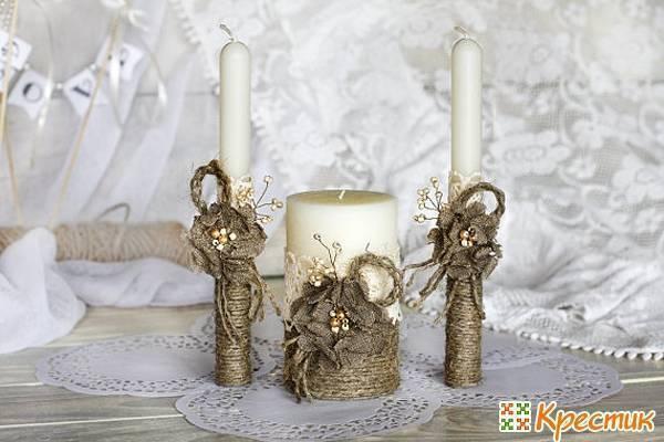Декор свадебных свечей