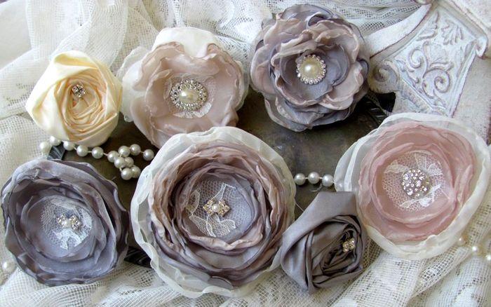 Букет цветов из ткани