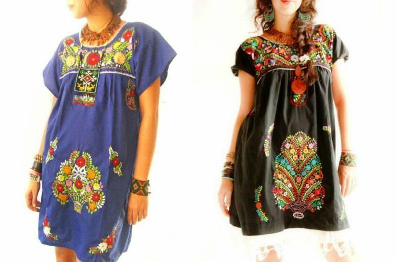 Платье в мексиканском стиле