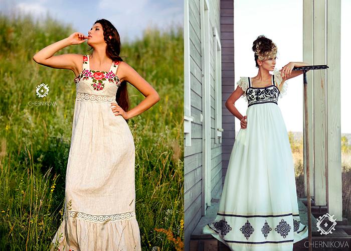 Свадебные платья с вышивкой в украинском стиле