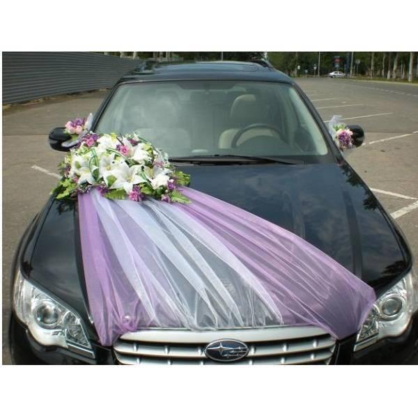 Длина капота машины для свадебных украшений