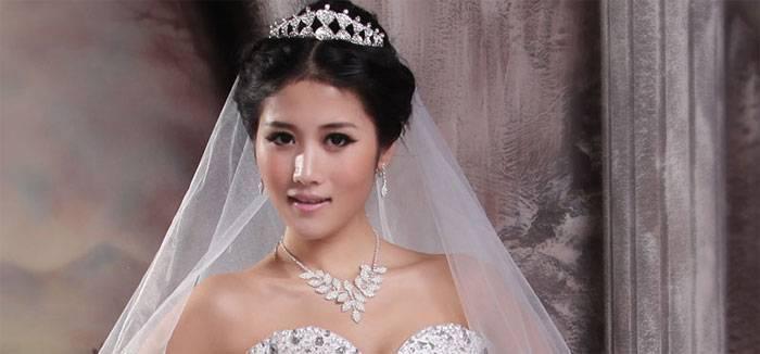Как подобрать фату к свадебному платью