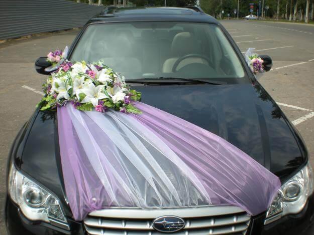 Украшения на капот свадебной машины
