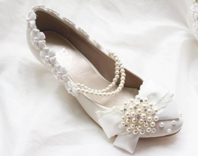 Как украсить туфли невесты