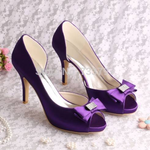 15-colors-custom-handmade-eggplant-purple-bridesmaid-shoes-high-heeled-10cm-bow-free-shipping