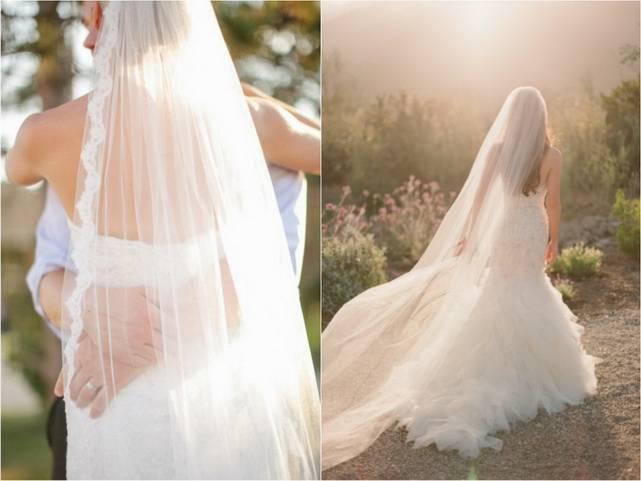 Свадебные платья с длинной фатой