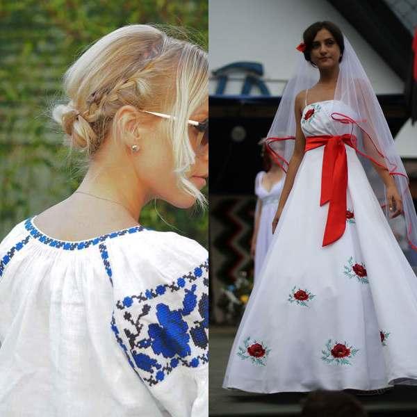 Платья в украинском стиле современные