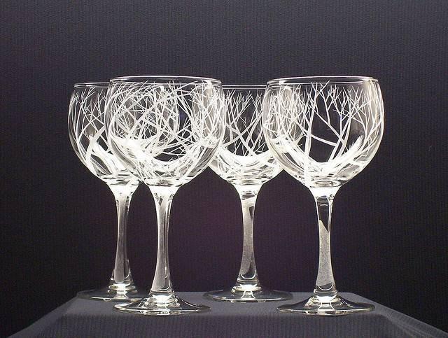 Свадебные бокалы для молодых фото