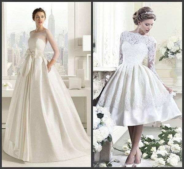Свадебное платье с закрытой шеей