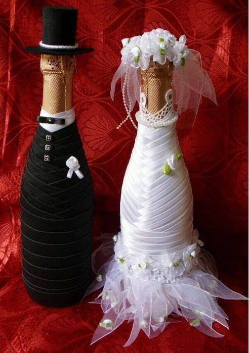 Жених и невеста из шампанского мастер класс
