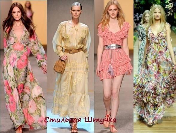 Платья в деревенском стиле