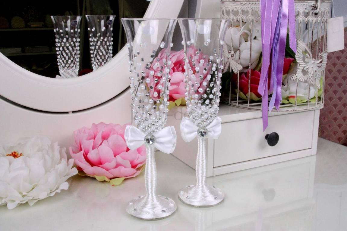 Дизайн свадебных бокалов