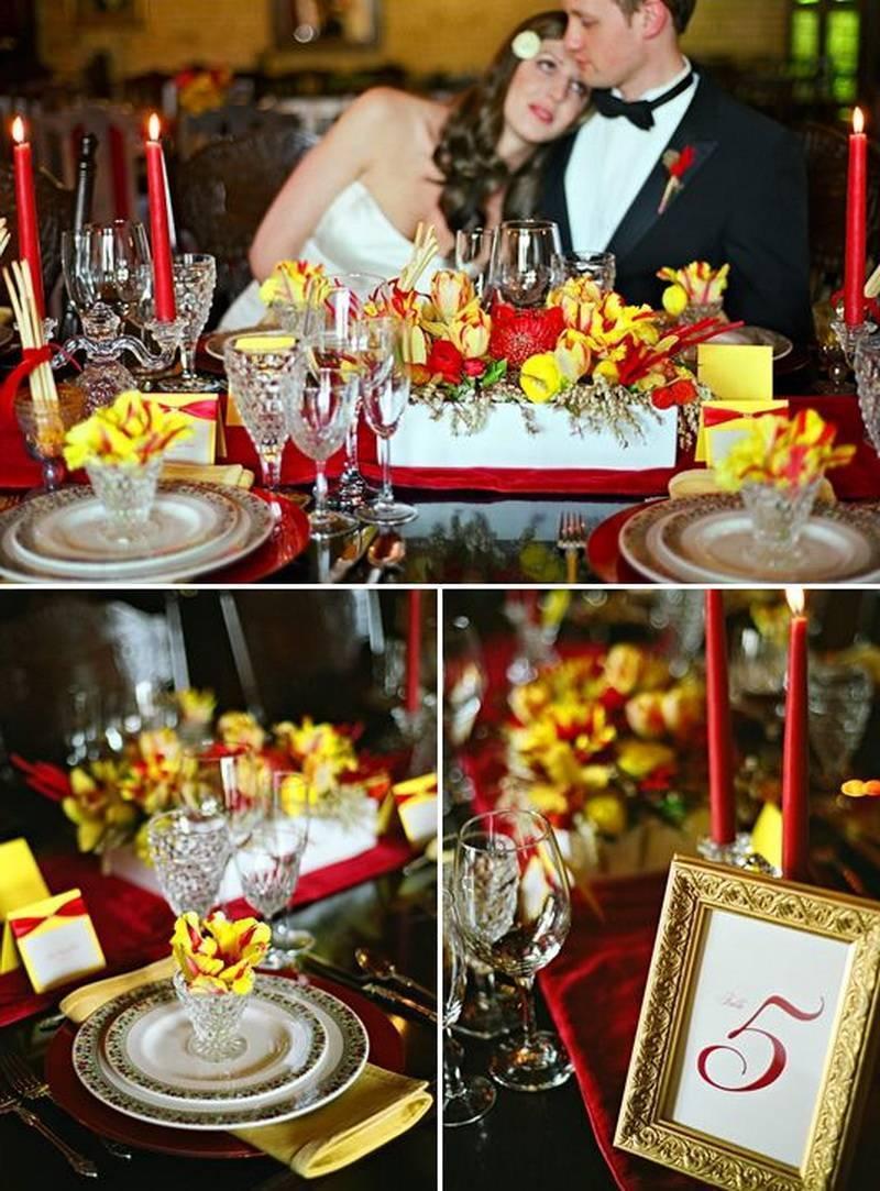 Свадьба в красно синем цвете