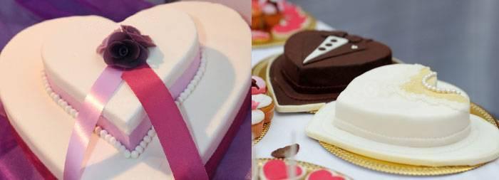 Свадебный торт в виде сердца