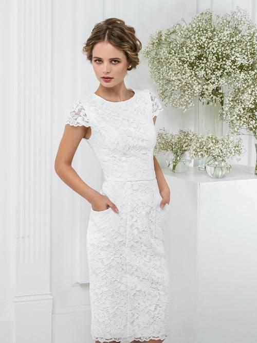 Свадебные платья футляры