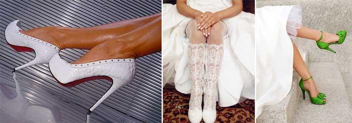 Зимняя свадебная обувь для невесты