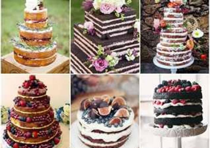 Голый торт свадебный